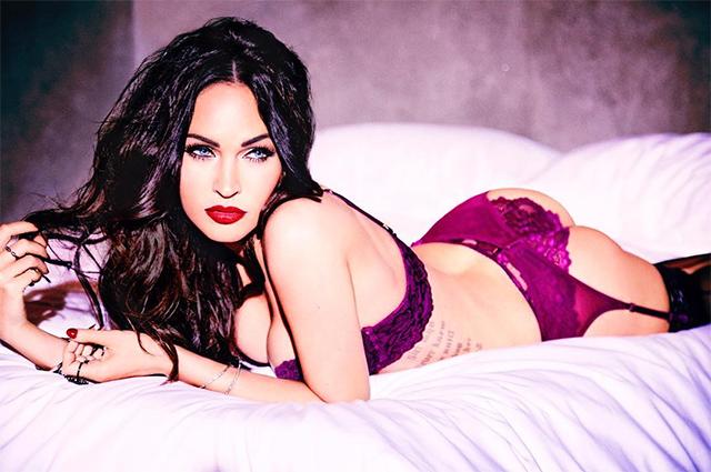 Сексуальная Меган Фокс снялась впровокационной фотосессии внижнем белье