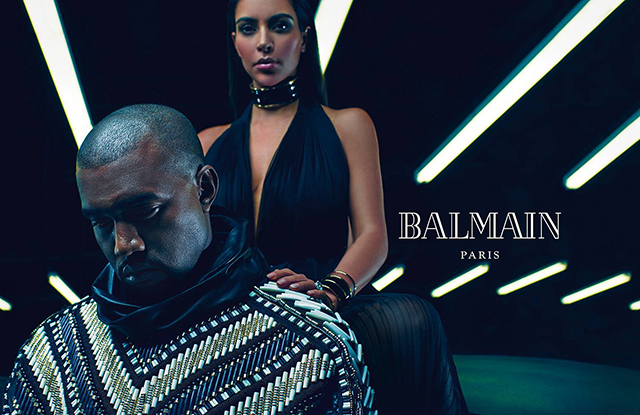 Ким Кардашьян и Кэни Уэст в рекламе Balmain