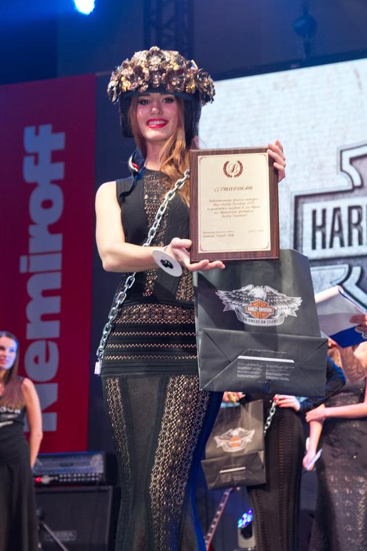 Победительница конкурса Мисс Harley-Davidson-2014 Елена Кожарко