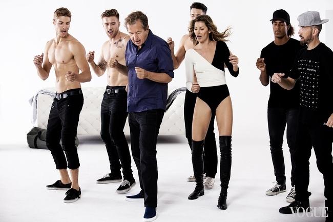 Сеть взорвал зажигательный танец сексуальной Жизель Бундхен и Марио Тестино