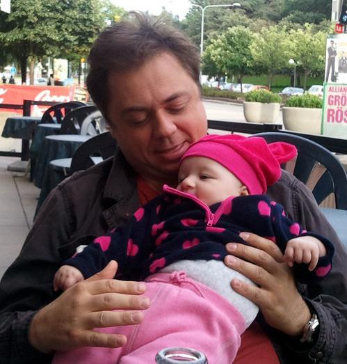 Андрей Леонов с дочкой Аней
