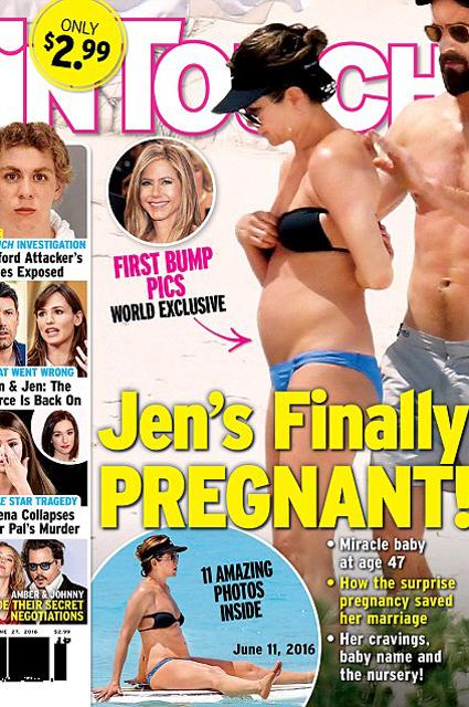 Представитель Дженнифер Энистон прокомментировал новость о ее беременность