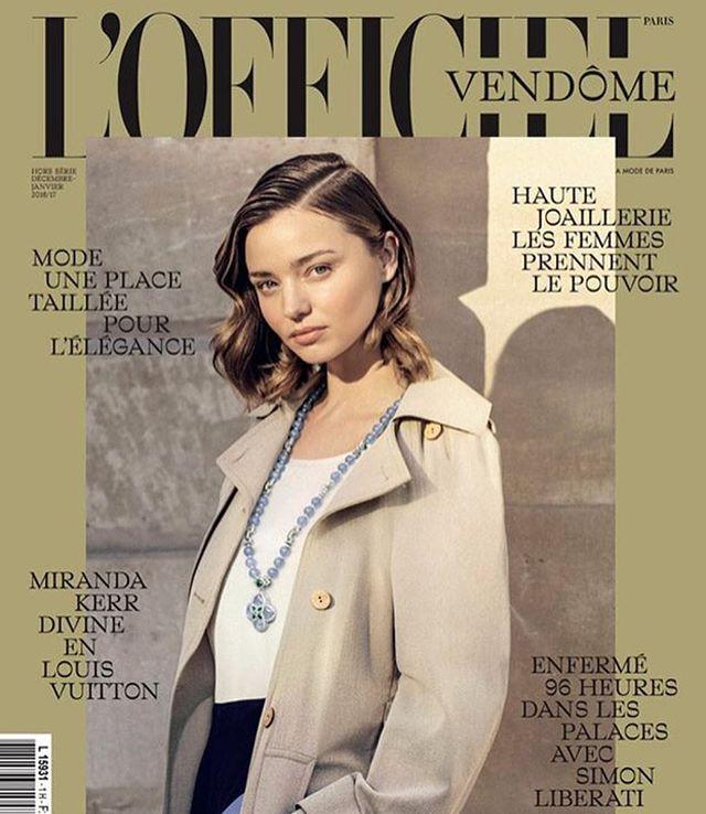 Элегантная красота: Миранда Керр украсила обложку парижского L'Officiel