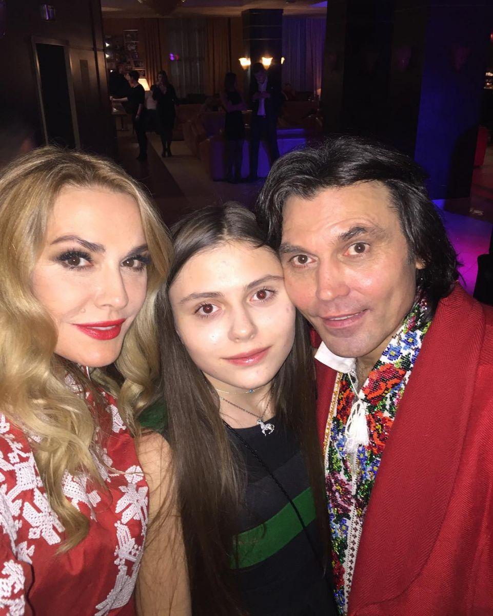 Ольга Сумская и Виталий Борисюк с дочерью Анной