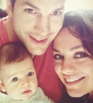 Мила Кунис и Эштон Катчер судятся со СМИ из-за фото дочери