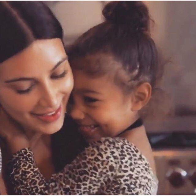 Как нежно: Ким Кардашьян опубликовала милое фото с дочерью Норт