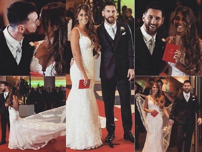 Лионель Месси женился на своей возлюбленной: первые фото и видео со свадьбы