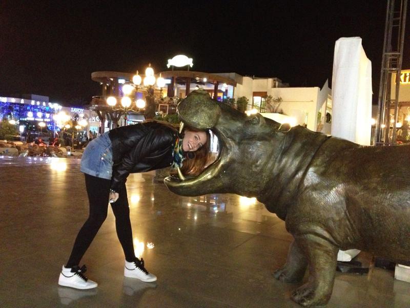Надя Дорофеева в Египте
