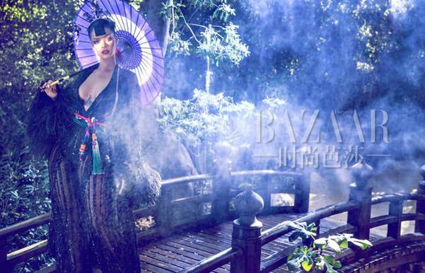 Изысканная экзотика: Рианна снялась для китайского глянца
