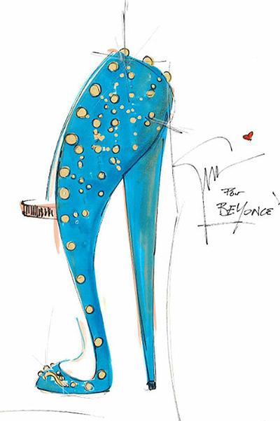 Внимание модницам: Бейонсе создаст эксклюзивную пару туфель