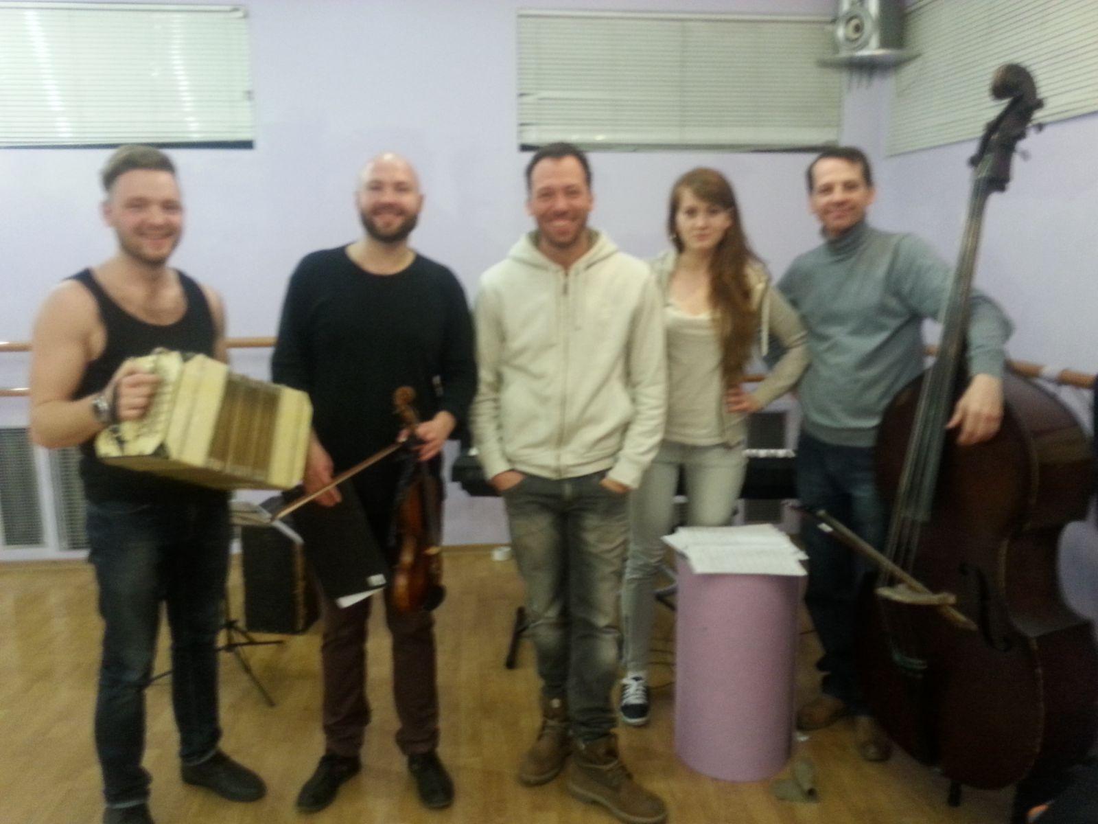 Константин Томильченко на репетиции концерта Kiev Tango Project