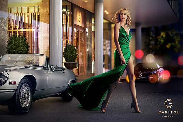 Роскошная и сексуальная Шарлиз Терон сияет в рекламе отеля