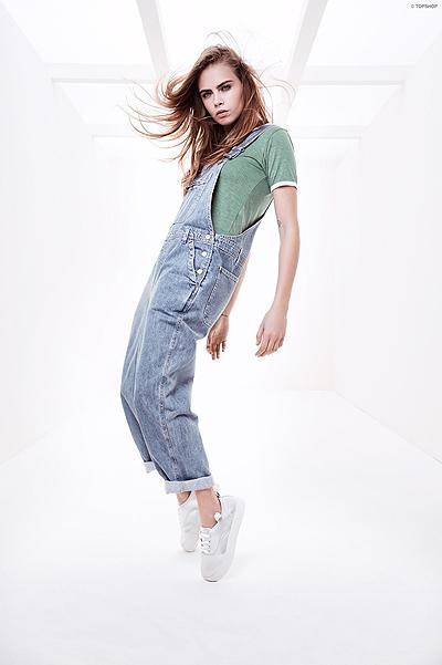Юная и прекрасная: Кара Делевинь снялась в рекламной кампании Topshop