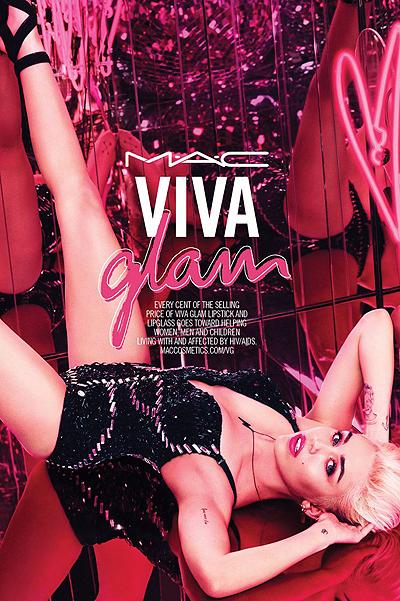 Минимум одежды: сексуальная Майли Сайрус в яркой рекламной кампании MAC