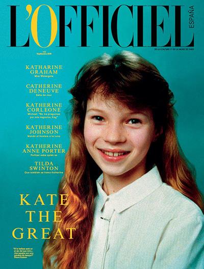 10-летняя Кейт Мосс украсила обложку первого выпуска фиспанского L'Officiel