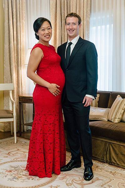 Редкий кадр: Марк Цукерберг показал фото с беременной женой