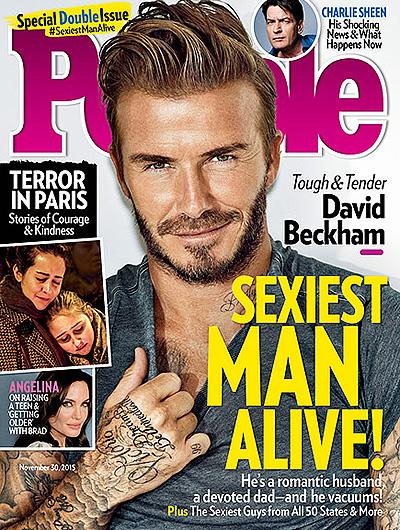 Дэвида Бекхэма назвали самым сексуальным мужчиной 2015 года