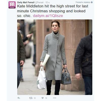 Неожиданно: Кейт Миддлтон сама ходит за подарками на Рождество