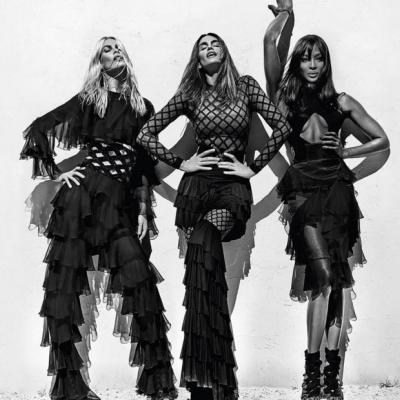 Королевы моды: Синди Кроуфорд, Наоми Кэмпбелл и Клаудия Шиффер блистают в рекламе Balmain
