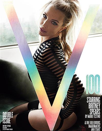 Бритни Спирс снялась сразу для трех юбилейных обложек V Magazine