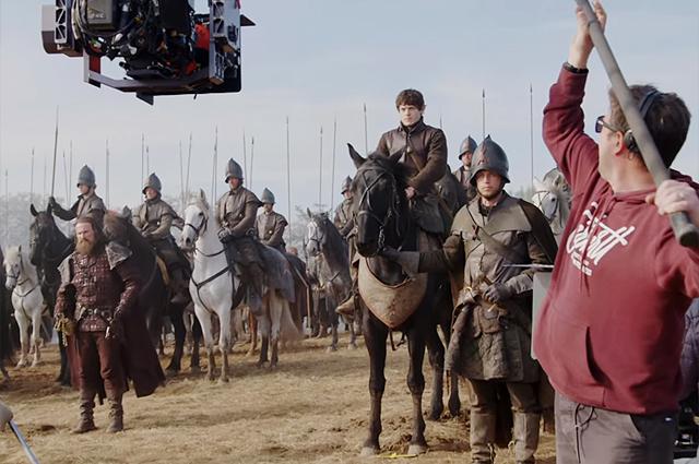 """В сети появились кадры съемочного процесса самой масштабной битвы """"Игры престолов"""""""
