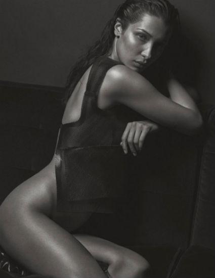 Постопам кейт Мосс: обнаженная Белла Хадид повторила популярную фотосессию скандалистки