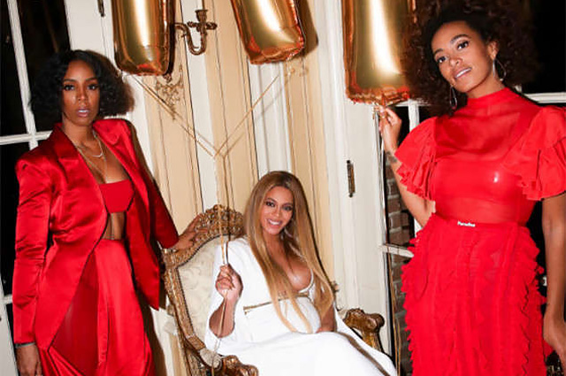 """Беременная Бейонсе поделилась фотографиями с домашней вечеринки после """"Грэмми"""""""