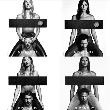 Наомі Кемпбелл знялася топлес для нової рекламної кампанії Givenchy Jeans.
