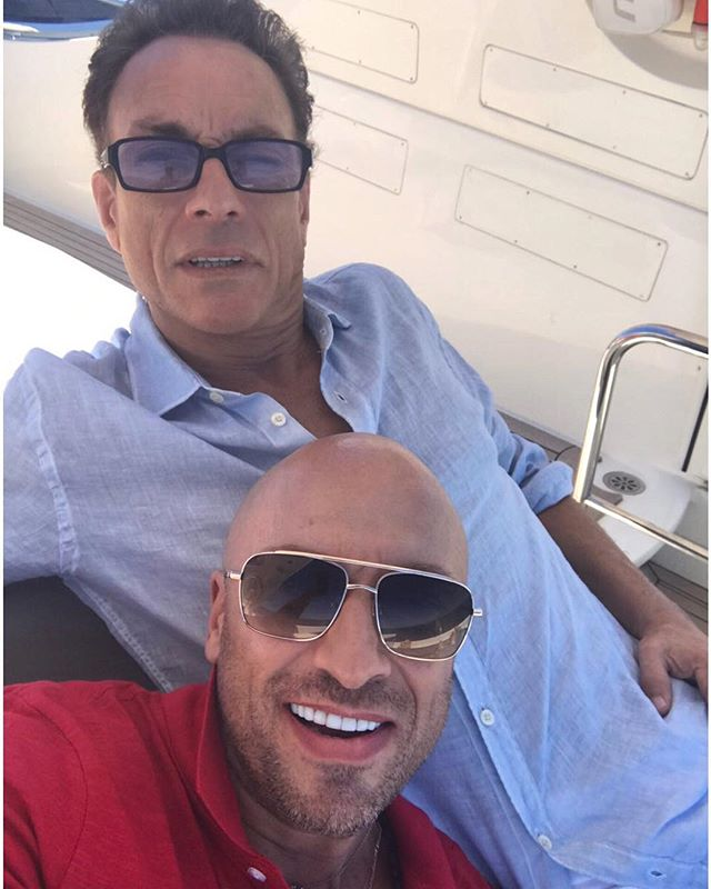 Селфи дня: Дмитрий Нагиев и Жан-Клод Ван Дамм позируют на яхте