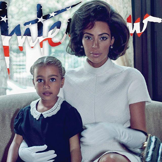 Ким Кардашьян в образе Жаклин Кеннеди снялась в фотосессии с дочерью Норт