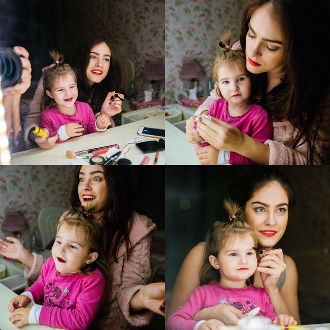 Маша Собко и ее дочь Малена
