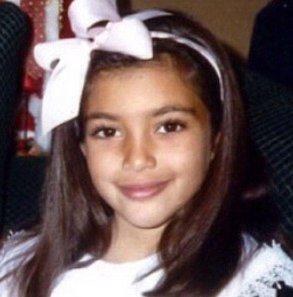 Детское фото Ким Кардашьян