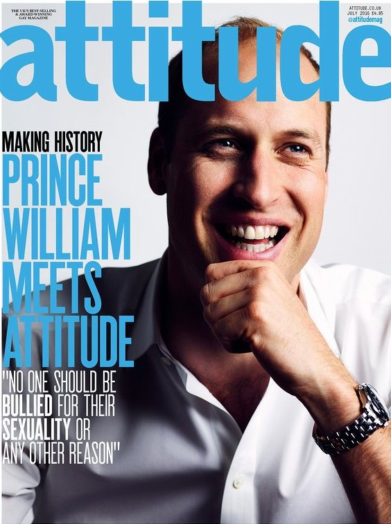 Принц Уильям появился на страницах гей-журнала Attitude
