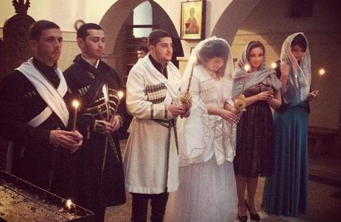 Анфиса Чехова на свадьбе в Грузии март 2013