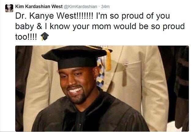 Счастливый выпускник: Канье Уэст получил докторскую степень