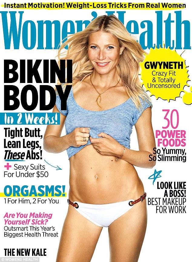 42-летняя Гвинет Пэлтроу в белом бикини на обложке журнала