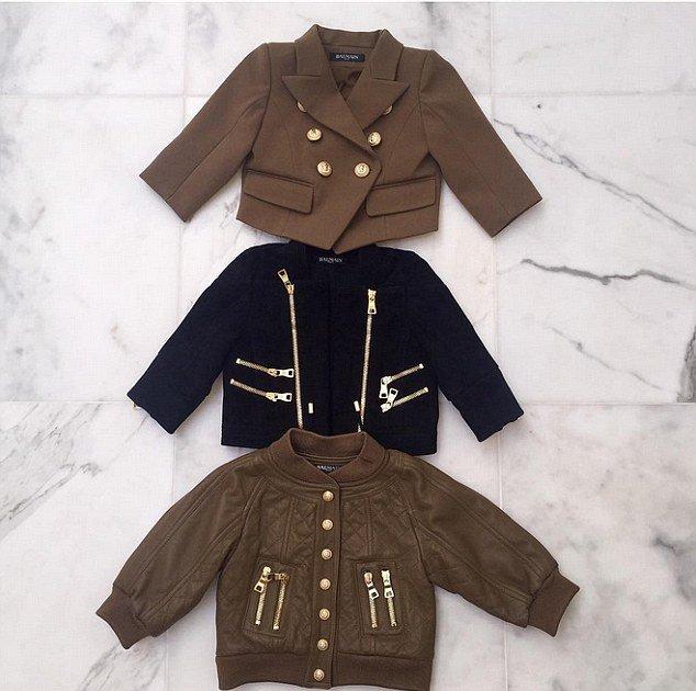 Дизайнеры Balmain создали коллекцию для дочери Ким Кардашьян (Фото)