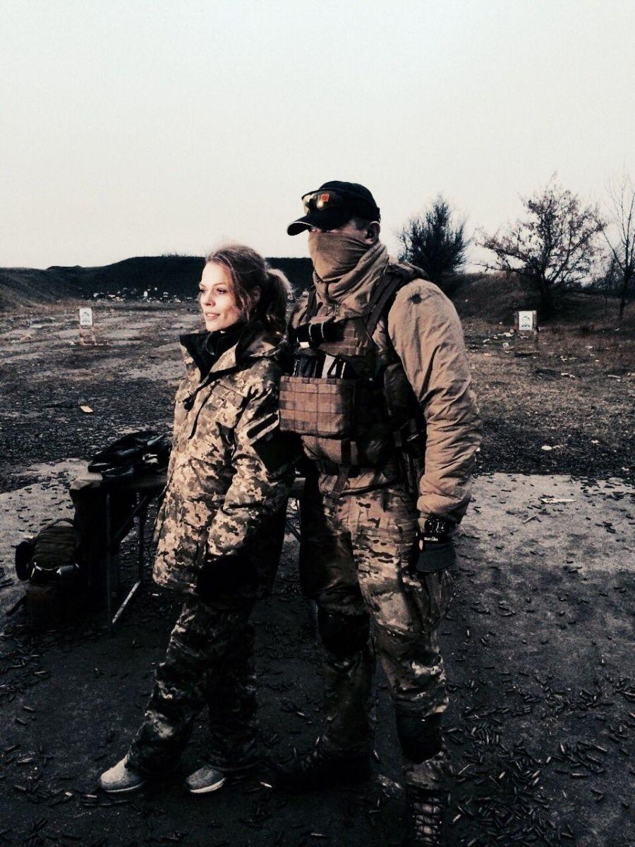 Ольга Фреймут побывала в зоне АТО