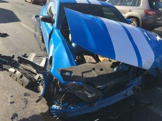 В сети появились первые фото вдребезги разбитой машины Kishe!