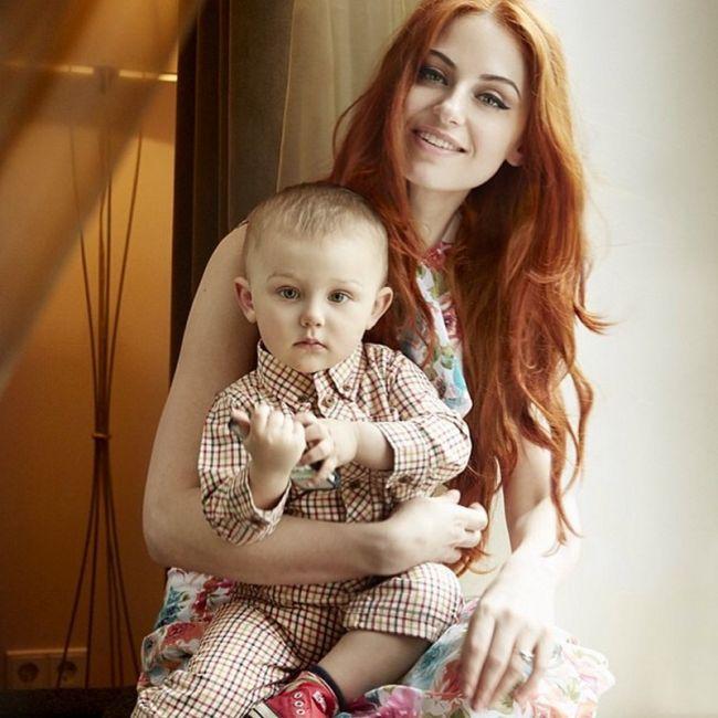 Ирина Забияка показала сына