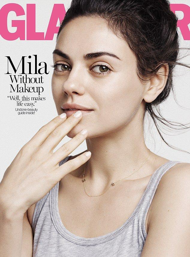 Во имя естественной красоты: Мила Кунис снялась для обложки глянца без макияжа