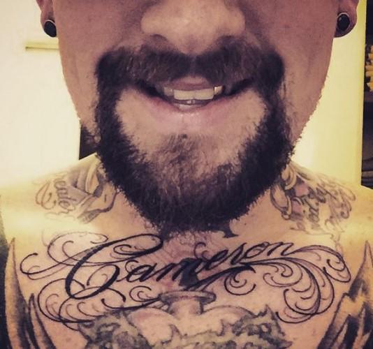 Муж Камерон Диас сделал себе татуировку в ее честь