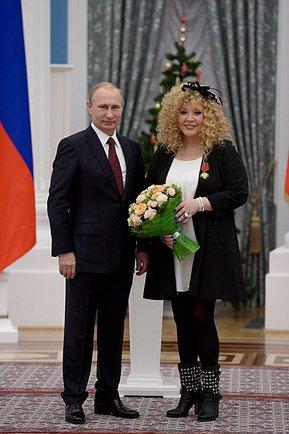 Владимир Путин, Алла Пугачева