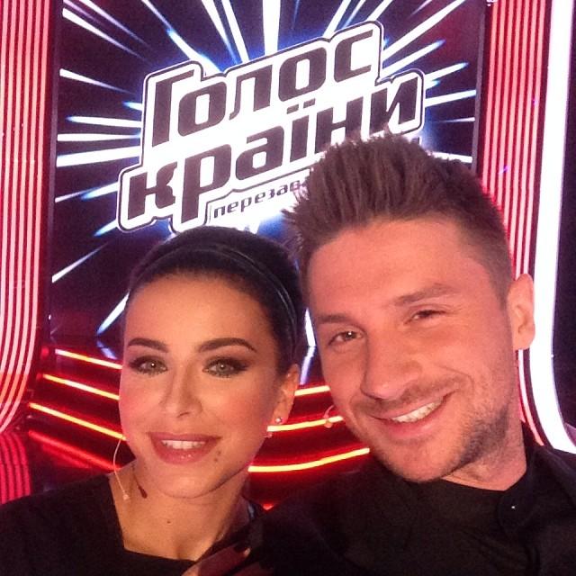 Ани Лорак и Сергей Лазарев голос країни 4 сезон фото 2014