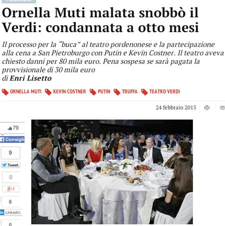 Орнелла Мути получила срок из-за рандеву с Путиным