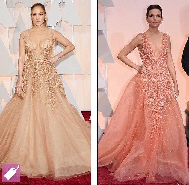 Модный казус: Дженнифер Лопес и Лусиана Педраса пришли в одинаковых платьях