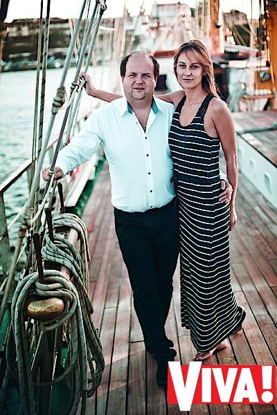 """Солист """"ТІК"""" Виктор Бронюк и его жена Татьяна. Фотосессия для журнала Viva!"""