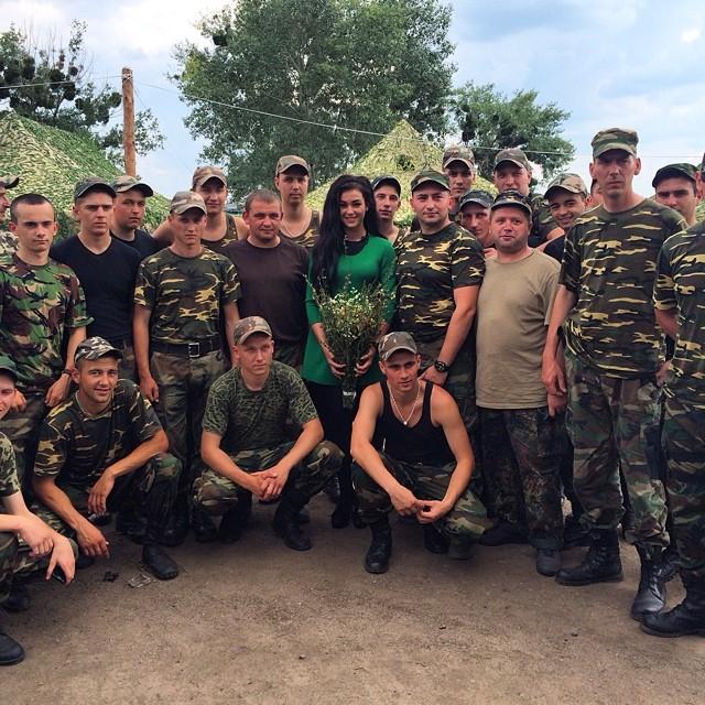 Мария Яремчук выступила в зоне АТО на Донбассе
