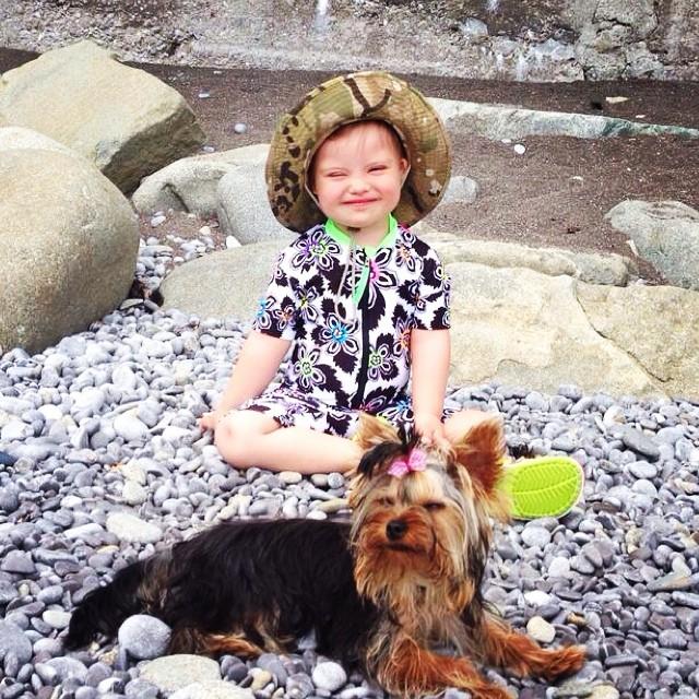 Эвелина Бледанс отдыхает с сыном в Крыму