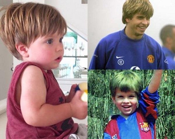 Папина копия: Шакира сравнила детские фото Жерара Пике и сына Саши